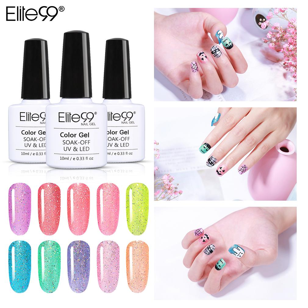 Elite99 arc-en-Bonbon Gel Vernis à ongles Tremper LED UV Off Vernis à ongles Primer manucure 10ML Soak Off émail Gel UV Vernis Vernis