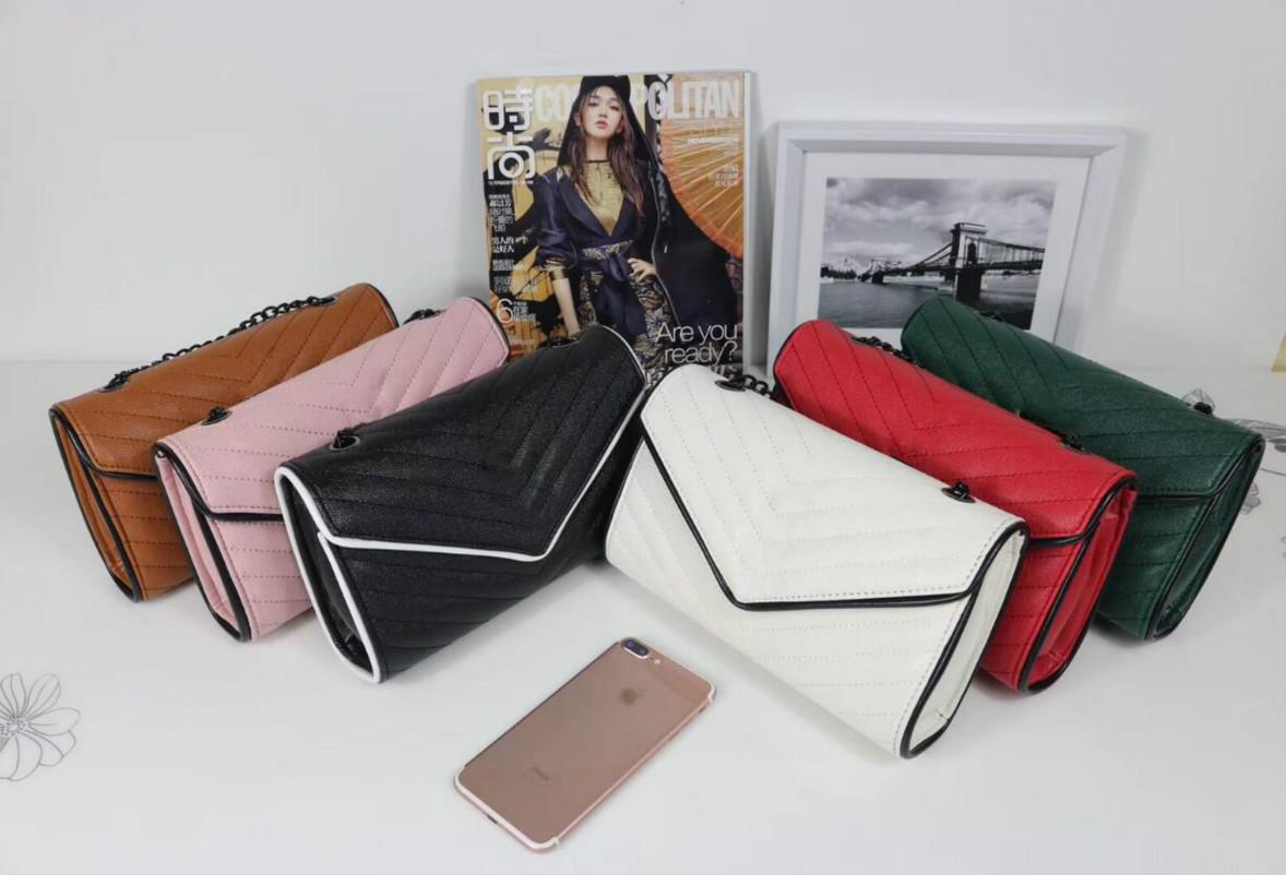 Le donne catena del progettista di Crossbody di modo delle donne di alta qualità borsa di lusso Plain Classic Shouder Bag sei colori sacchetto di alta qualità