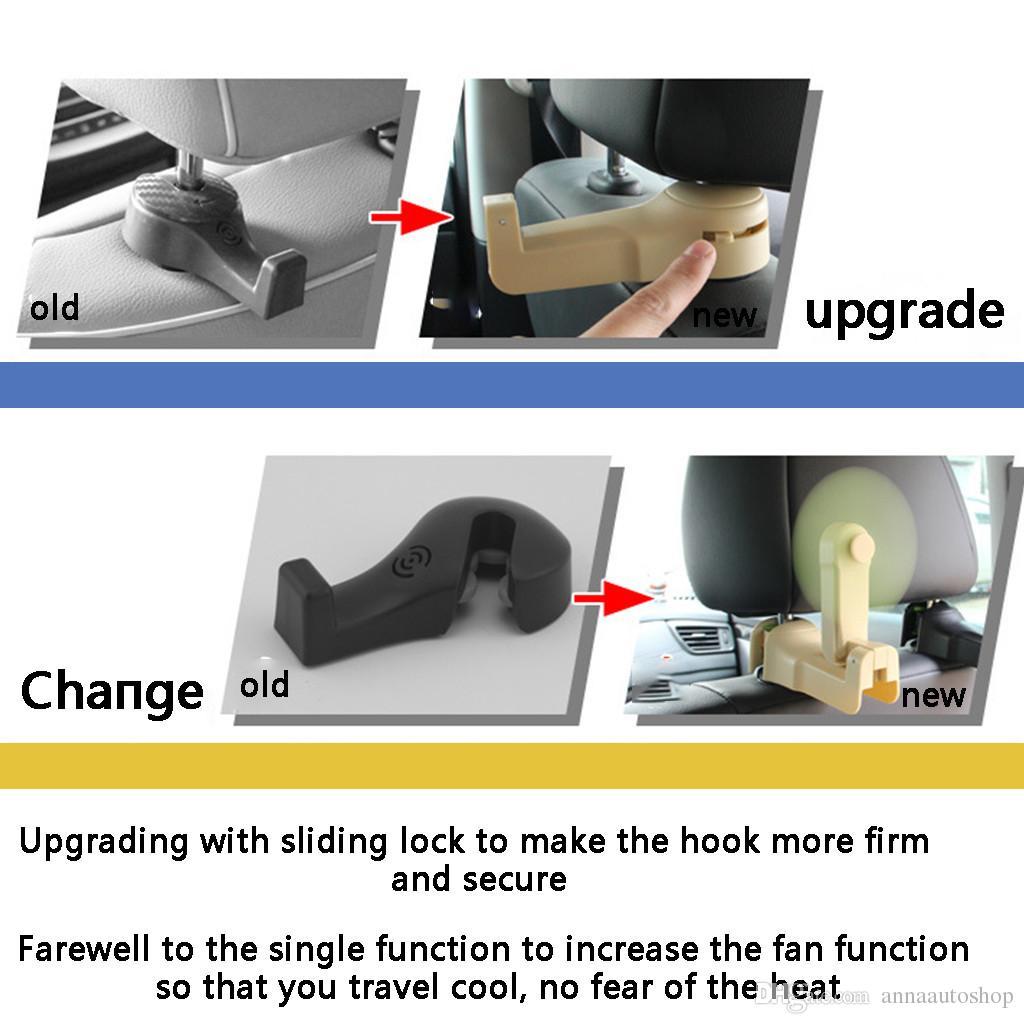 Car Seat Back Hook Hidden Car With Multi-function Rear Row Phone Bracket Hook UK