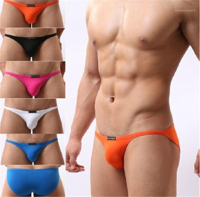 الصلبة اللون مريح وتنفس ملابس داخلية عارضة منخفضة الخصر الرجال السروال فاخر مصمم رجالي موجزات الموضة