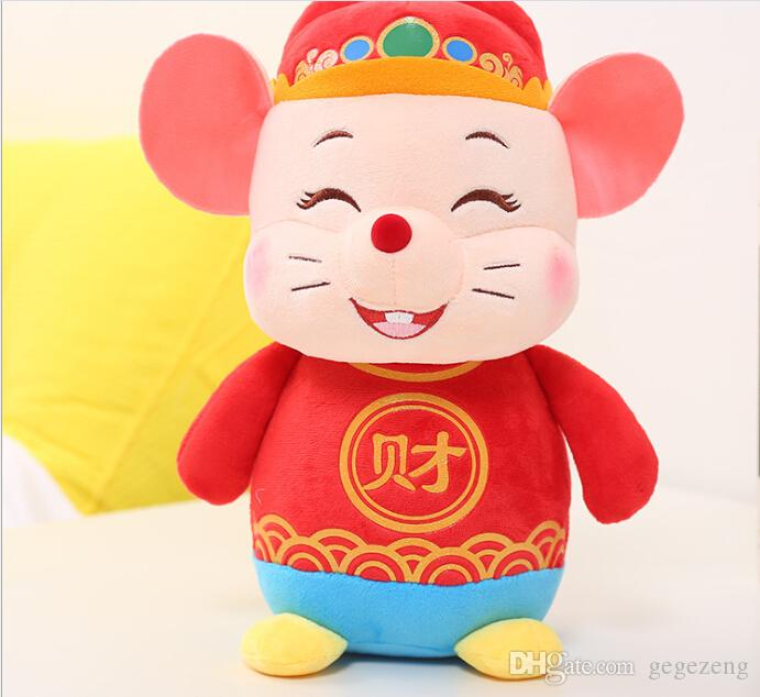 Atacado Ano do Natal Presente Anual Rat Mascot boneca mouse Plush Toy Ragdoll Pillow