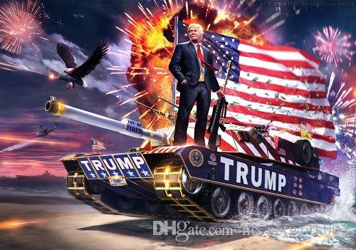 Head Trump Flag America Flag Tank Personality President Polyester Canvas Free Metal Election Decortive Trump A03 Shipping!90*150cm Bann Ennw