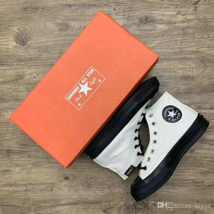 2019 Converse X Gore Tex Chuck All Star 1970s High Canvas Running Skateboard Shoes Orange Black Waterproof Fabric Casual Sneakers Dansko Shoes Indoor