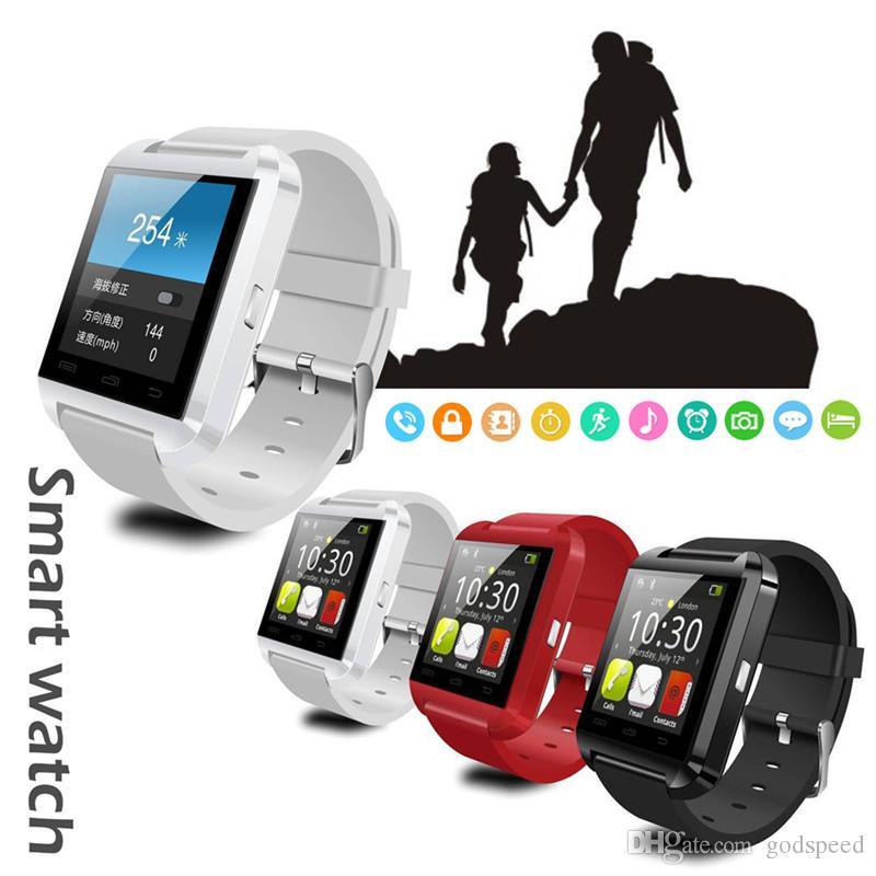 Bluetooth U8 SmartWatch relojes de pantalla táctil para iOS Android de albergue monitor del teléfono inteligente reloj con paquete al por menor