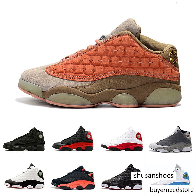 2019 Ambiente grises Lakers 13 13s Negro infrarrojos Italia Blue zapatos de baloncesto de los hombres casquillo y del vestido Atmósfera 13s gris para hombre zapatillas deportivas