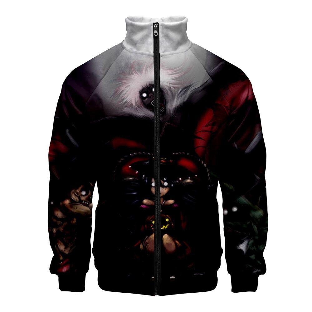 2019 новое прибытие человек куртка Хэллоуин призраки стоячий воротник с длинным рукавом осень молния пальто большой размер