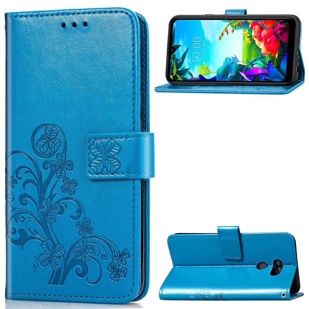 Stand Case en cuir pour LG K40S Case Wallet flip 3D Floral Embossed couverture pour LG K40 S Couverture Coque
