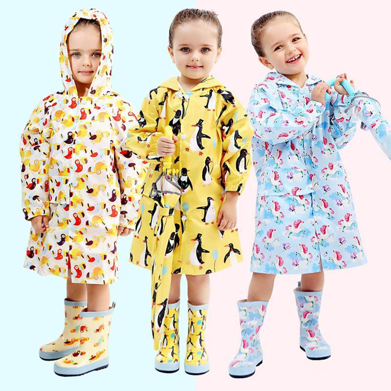 طويل معطف واق من المطر للاطفال الاطفال الطفل معطف المطر المعطف خندق الطفل Chubasqueros كابا دي chuva