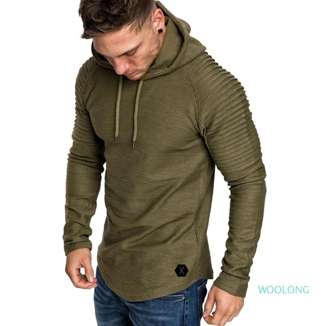 Mens Hoodies Fashion Long Sleeve Hooded Sweatshirt Autumn Spring Pluse Size 3XL Pullover Male Fitness Plain Tops Clothes XM08