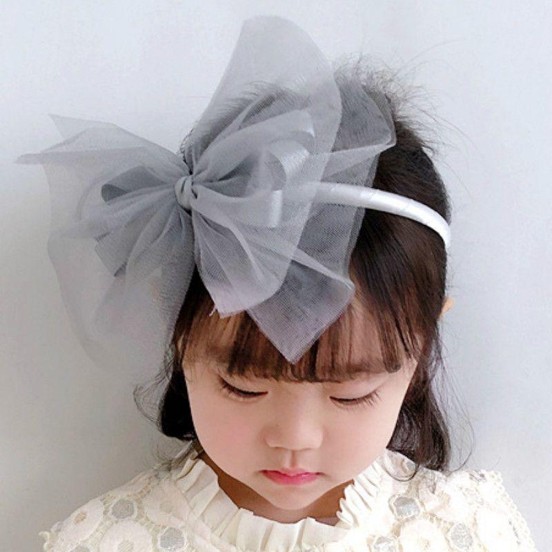 2020 Yeni Kore Stil Headdress Sevimli Prenses Çift İplik Bow Bantlar hairbands Kız Çocuk Moda Saç Aksesuarları