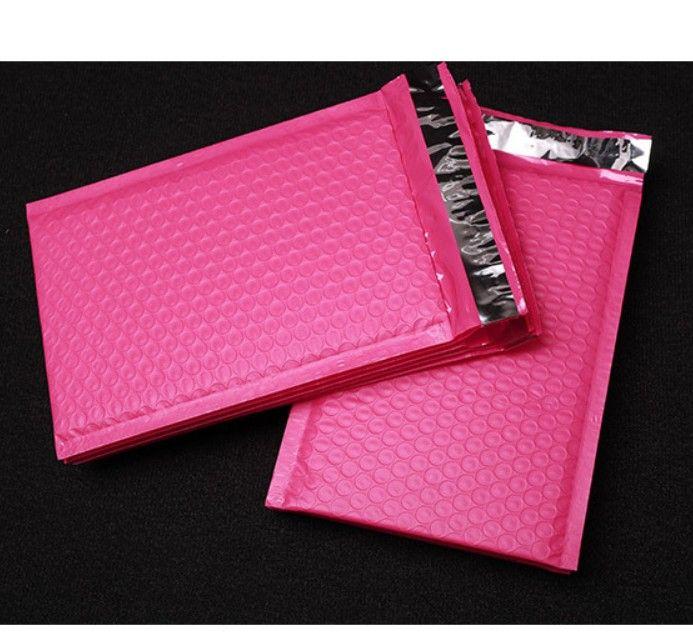 Burbuja de embalaje bolsas de polietileno de burbujas Sobres para regalos Mailer rosa del sello auto bolsos rellenados de distribución de papel de regalo