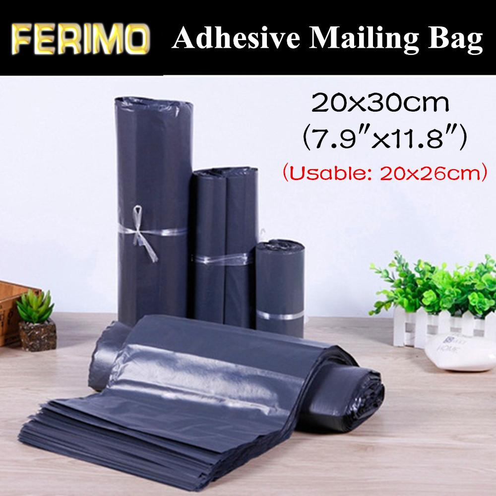 """100pcs 20x30cm (7.9 """"x11.8"""") Dunkelgrau Self Adhesive Kuriertasche Umschlag Versandtasche Reißfestigkeit X-mas-Geschenk-Paket-Beutel"""