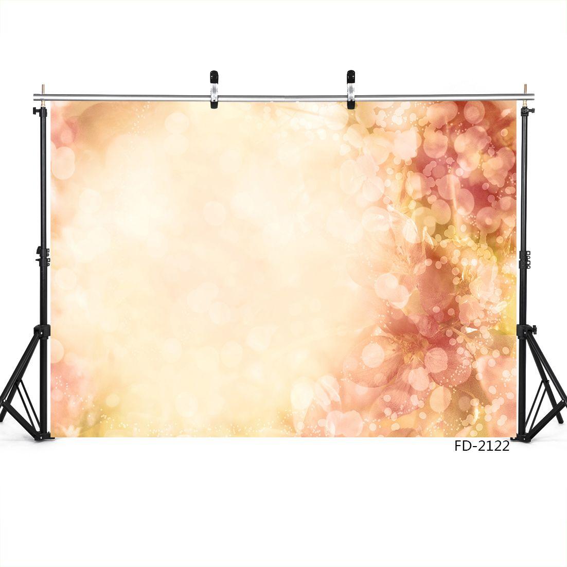 Bokeh círculo de la flor de los brillos de fotografía de retrato Telón de fondo para la sesión de fotos 7X5ft telones de fondo de tela de vinilo para estudio fotográfico de boda