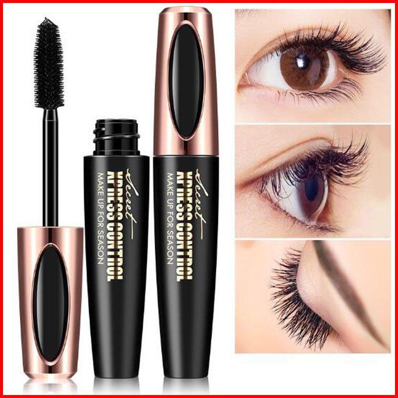 Macfee Long Curling Mascara Makeup Eyelash Black Waterproof Fiber Mascara Eye Lashes makeup 4d Silk Fiber Lash Mascara