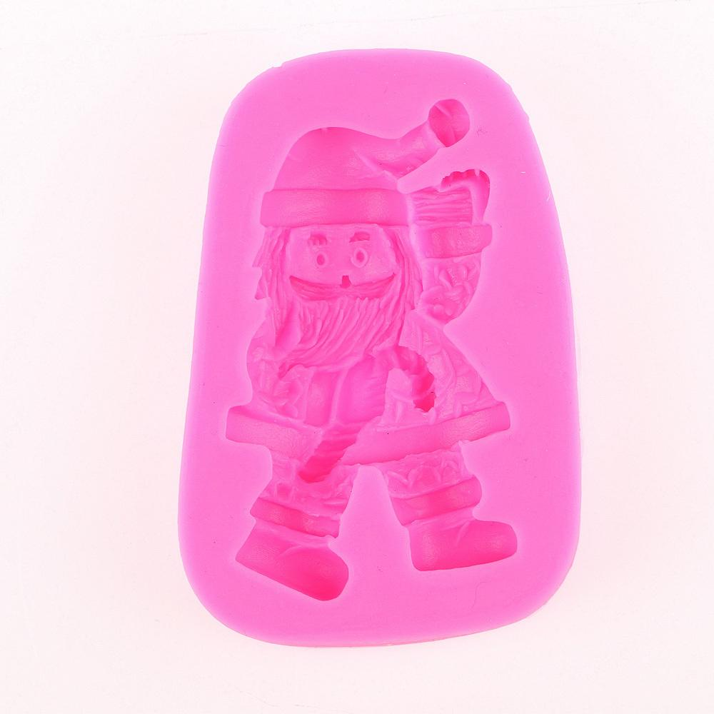 Christmas Tree Claus Hat Bell Silicone Mold Chocolate Fondant Moulds Diy Cake Decorating Tools