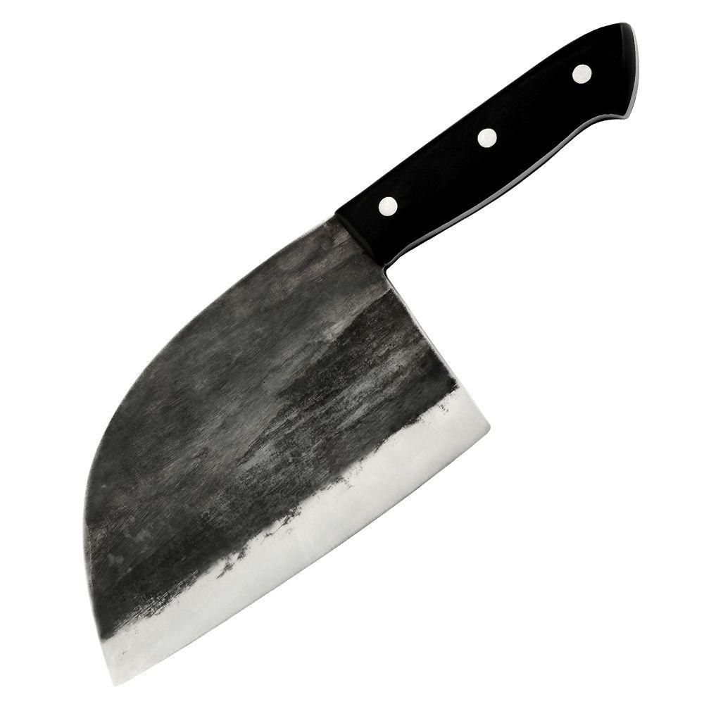XYj handgefertigte geschmiedete kohlenstoffhaltige plattierte Stahl Küchenmesser Hackmesser Fleisch Gemüse Metzgermesser professionelle Full Tang Kochmesser