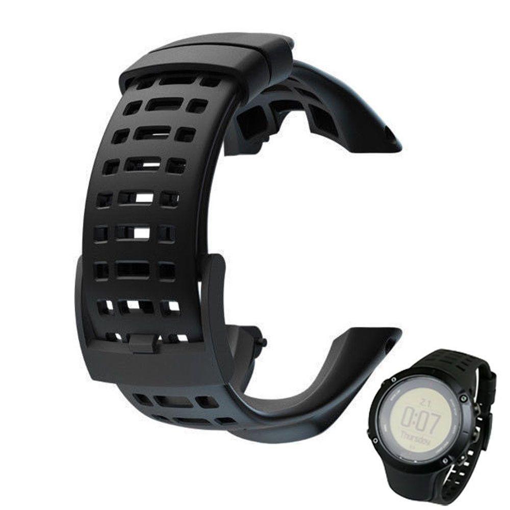 2016 Silikon-Gel-Armband Armband Sport-Uhrenarmband-Band für Suunto Ambit 3 Peak / Ambit 2 Buckle Gummiuhrenarmbänder Correa Y200325