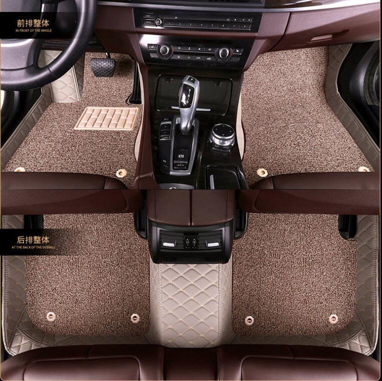 custom car floor mats for Mercedes Benz GLS Class GLS320 GLS350 GLS400 GLS450 GLS500 3 Rows 2016-2019 floor mats for cars DoubleLayer