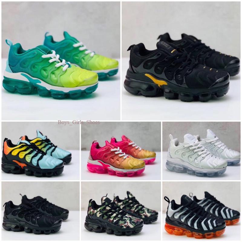 TN Plus 2020 Дети TN Plus Дизайнерская обувь Спорт кроссовки Дети Мальчик Девушки Тренеры Tn Кроссовки Классический Открытый малышей обувь 24-35