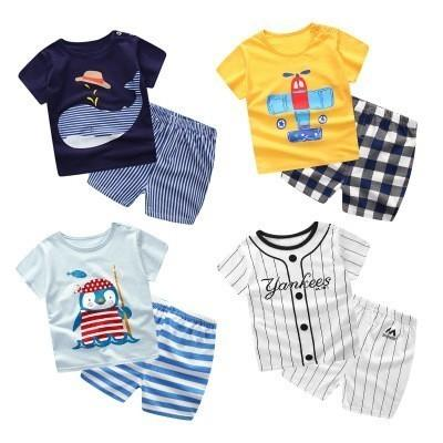 Fashion New Design Toddler Girls Clothing Set Summer Embroidery Boutique Yellow Striped Shorts Baby Remake Outfits Set Y1892906