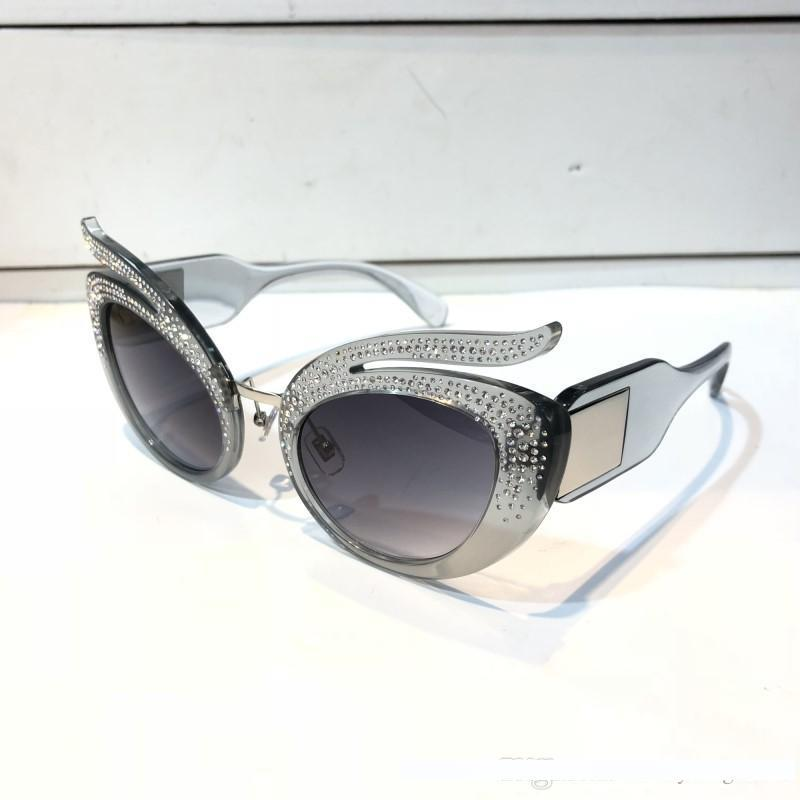 Роскошные солнцезащитные очки SMU04 для женщин дизайнер популярные кошачьи глаза рамка 04 солнцезащитные очки Кристалл Metarial мода женщины Стиль приходят с розовым корпусом