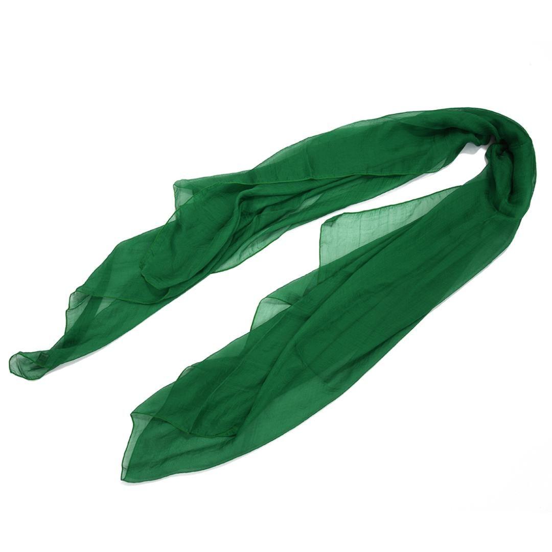 Hot Grama verde na moda Cuidados Verão cachecol cor sólida Xaile Para