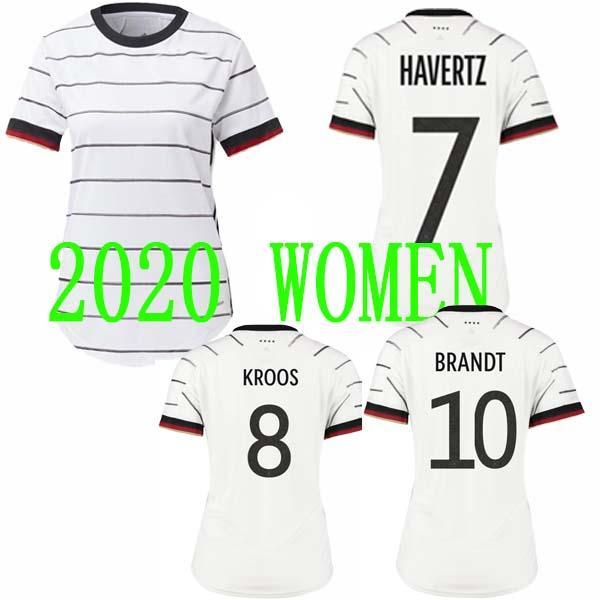 in stock!2020 Germany women soccer jerseys 20 21 GNABRY REUS BRANDT KROOS home football shirt white short sleeve uniform