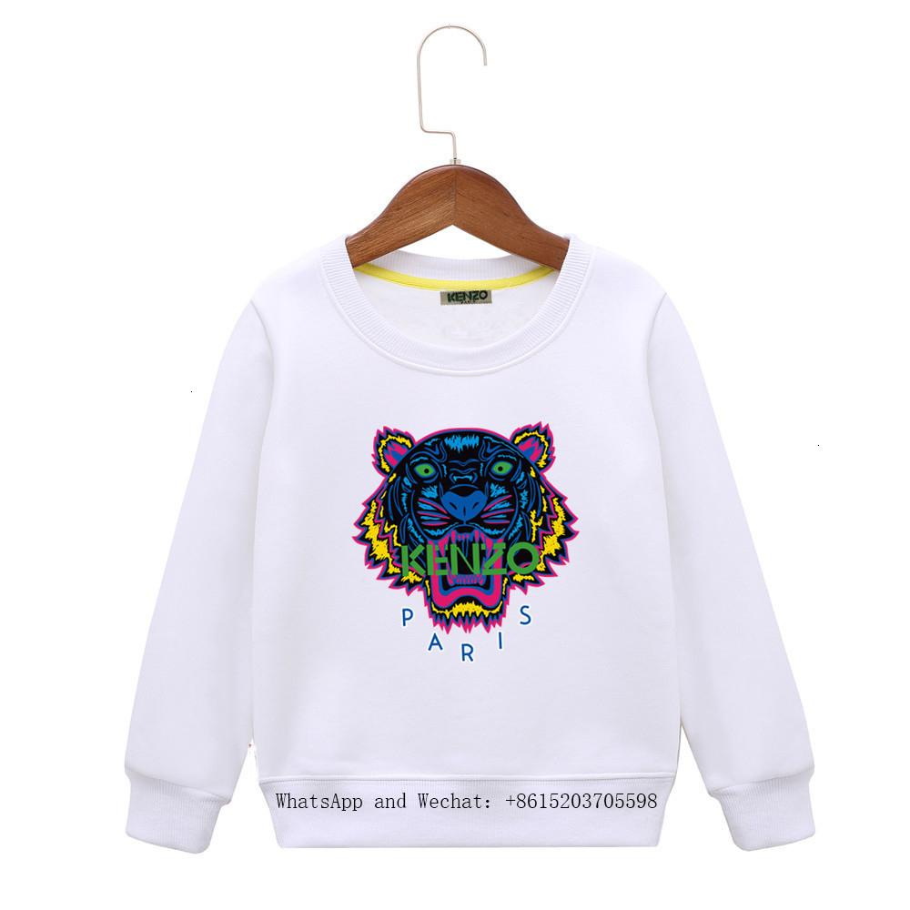 2019 Primavera in grandi bambino cappotto allentato Digital Printing bambini Colori fumetto dei ragazzi Hoodie Abbigliamento bambino 121.301