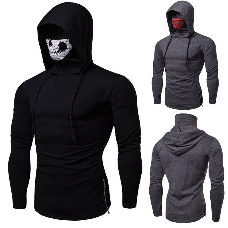 2019 il progettista del mens t inverno nuovi hoodies di gioco del cranio di personalità di stampa singolo maglione collo alto manica lunga WGWY190 camicie da uomo