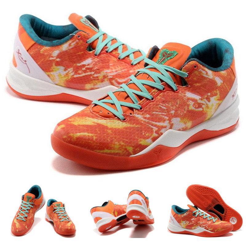 2020 New Arrival Mamba 8 Low Esportes sapatos casuais para homens Verde Laranja Branco Formação sapatos