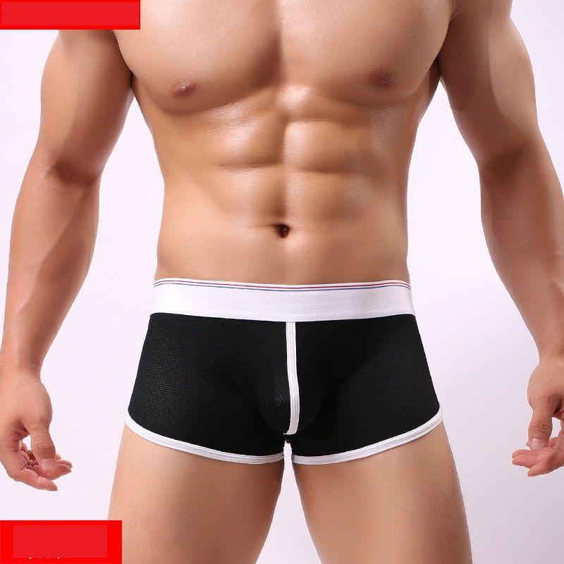 Slips Hommes Sous-Vêtements Couleur Unie Doux Culottes Modales Sexy Sous-Vêtements Coton Boxer Slips Shorts hombre Underpanties