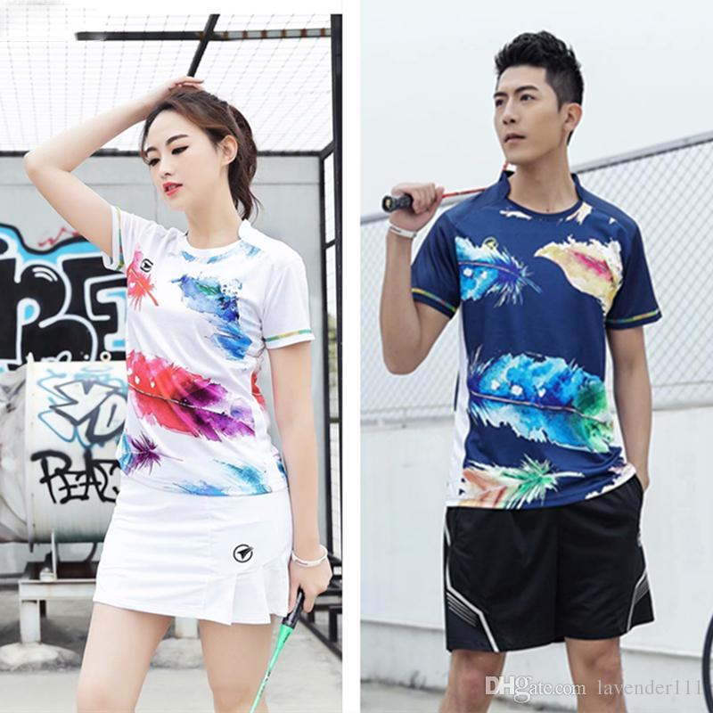 Kadınlar / Erkekler Kişiselleştirilmiş baskı Badminton Aşınma Masa Tenisi Seti Eğitim Takım Elbise Tenis Gömlek Şort Etekler Spor giyim