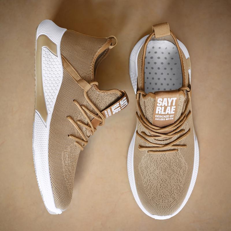 2020 Sonbahar Dokuma Erkekler Günlük Ayakkabılar Nefes Erkek Tenis Masculino Zapatos Hombre Sapatos Açık Sneakers Men Ayakkabı