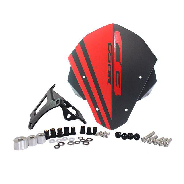 accesorios de motocicletas de alta calidad motocicleta parabrisas parabrisas delantero de aluminio para Honda CB650 cb650r r cb 650r