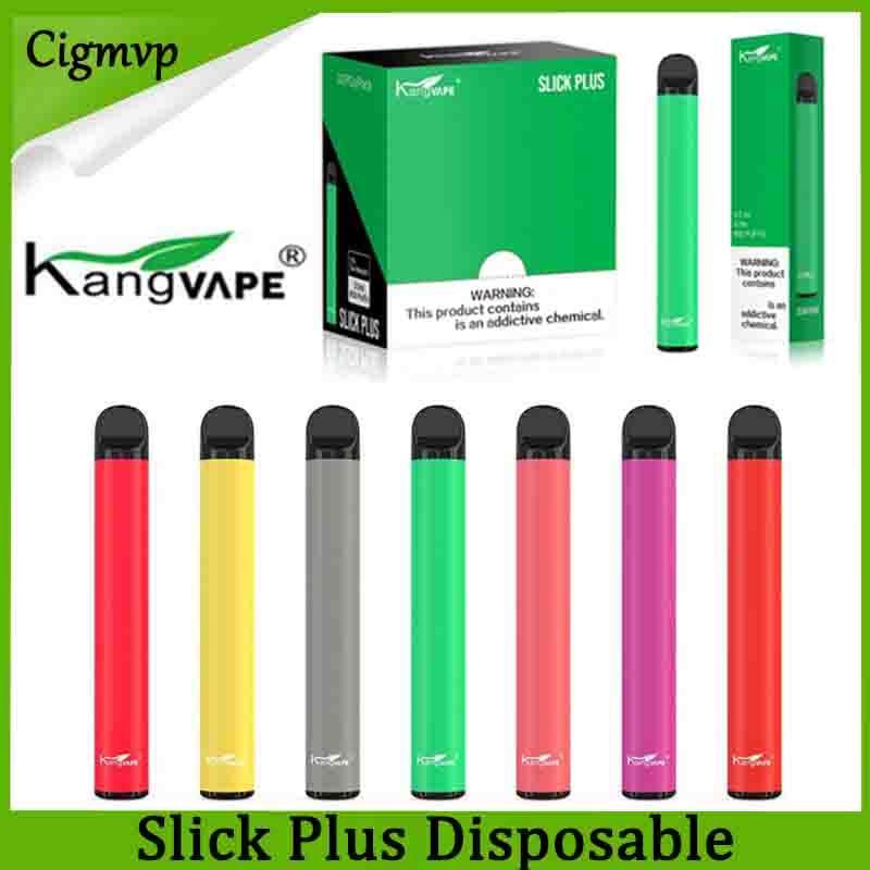원래 Kangvape 매끄러운 플러스 일회용 전자 담배 포드 장치 550mAh 배터리 3.5ml 카트리지 vape 펜 대 퍼프 바 키트 정품