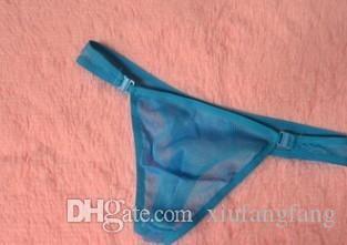 Baixo preço de alta qualidade frete grátis 3 pcs / lotes malha sexy T calças dos homens G-cordas cueca 4eu