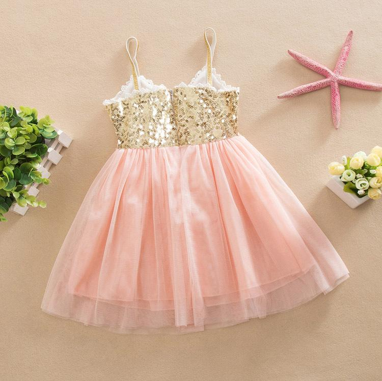 Cute Toddler Kid Baby Girl Sleeveless Sequin Dot Tulle Tutu Party Dress Clothes