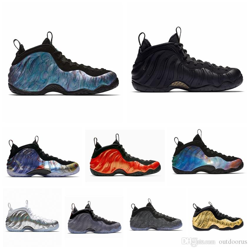 NIKE Mousse one Abalone Habanero Red Floral Penny Hardaway Chaussures de basketball Noir métallisé Or Alternatif Galaxy Polaire Sports Sneakers 8-13