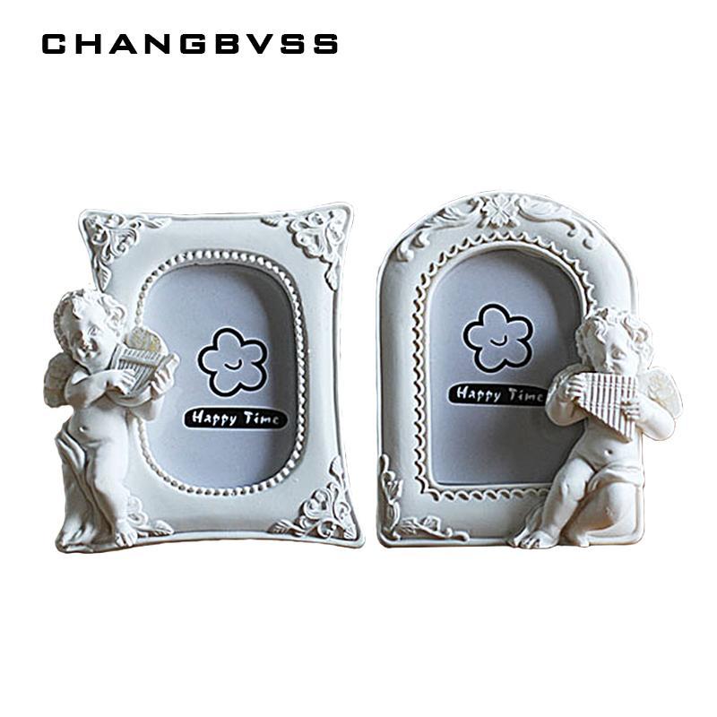 Poco ángel 1PC de fotos marco de coreanas del marco 2 pulgadas en blanco mini foto Decoración de resina imagen para el niño, ramka na Foto