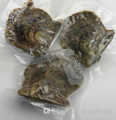 Party Fancy Gifts Vacuum Package Saltwater Akoya Oyster with 6-7 mm Round Multicolored Freshwater Pearl Bulk