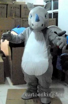 2019 Sıcak satış EVA Malzeme Kask gergedan Maskot Kostüm Karikatür Giyim Cadılar Bayramı Doğum Günü