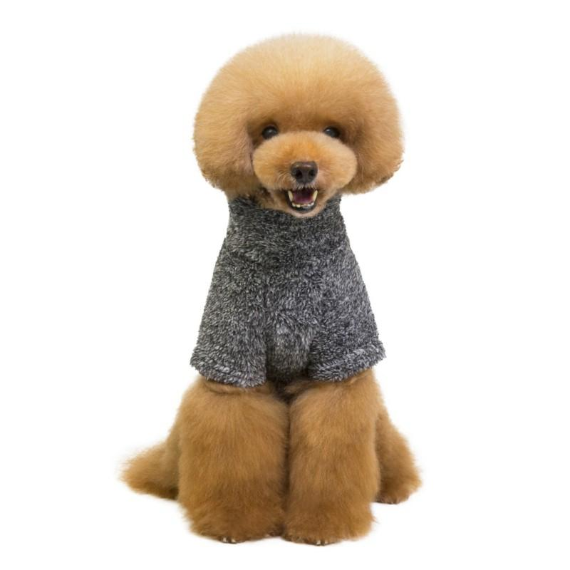 Puppy Kitten Coats Winter Soft Cotton Sweater Solid color Warm Dog Clothes Chihuahua Pug Costume