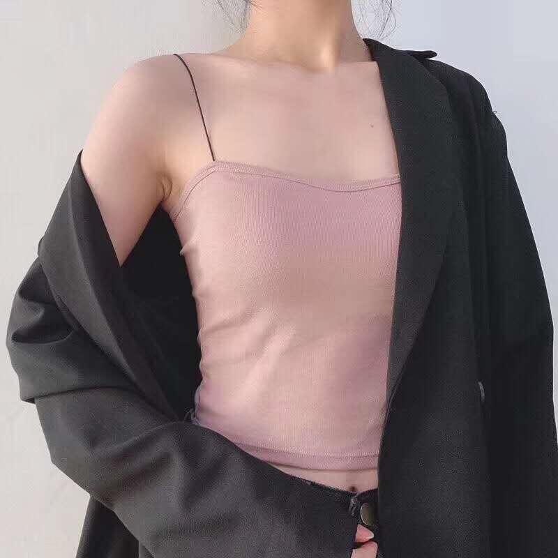 correa trasera de KoiRl W890U hembra del chaleco chaleco atractivo veststudent dentro y fuera de Corea del estilo de la almohadilla Fe Camisa del pecho de la correa camisa de la base transpirable