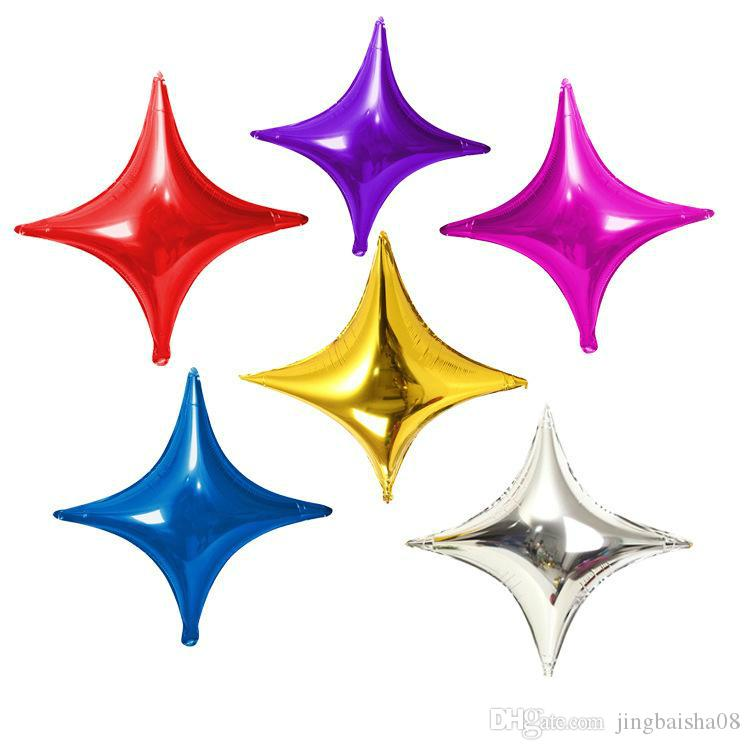 10 inch Four pointed Star Aluminum Foil Balloon Birthday Party Wine Glass Christmas Decoration Balloons Wedding Supplies DHL