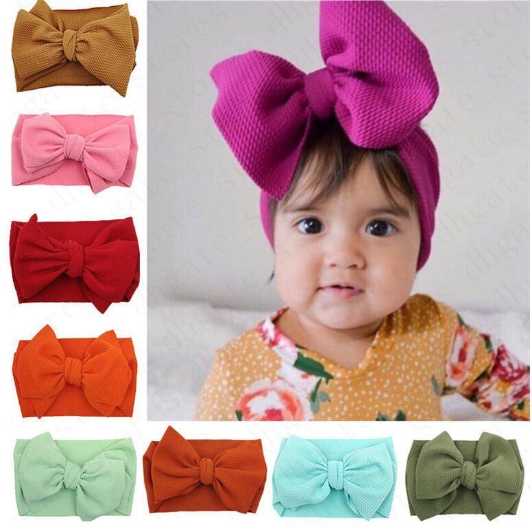Çocuklar Bebek Kız Big Bow Geniş Elastik Kafa Saç Bandı sarar INS Bebek Headbands Yenidoğan hairbands Başkanı Wrap Turban Satış D61005 hairwraps