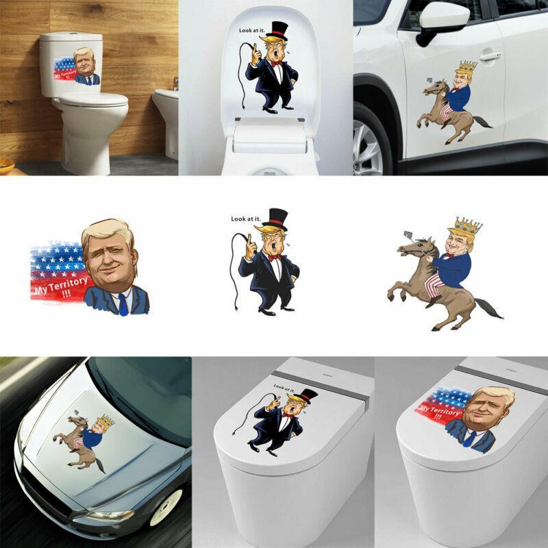 Presidente 3D Donald Trump assento do toalete adesivo de parede do banheiro papel de arte decalques Frete grátis adesivos de parede