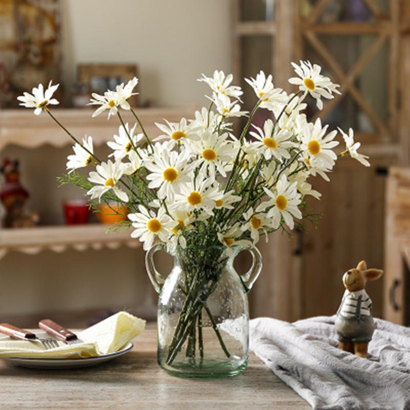 Silk Daisy Wedding Fake Display Flower 53cm Tall Artificial Flower for Home Garden Decorations Floral Fresh Color