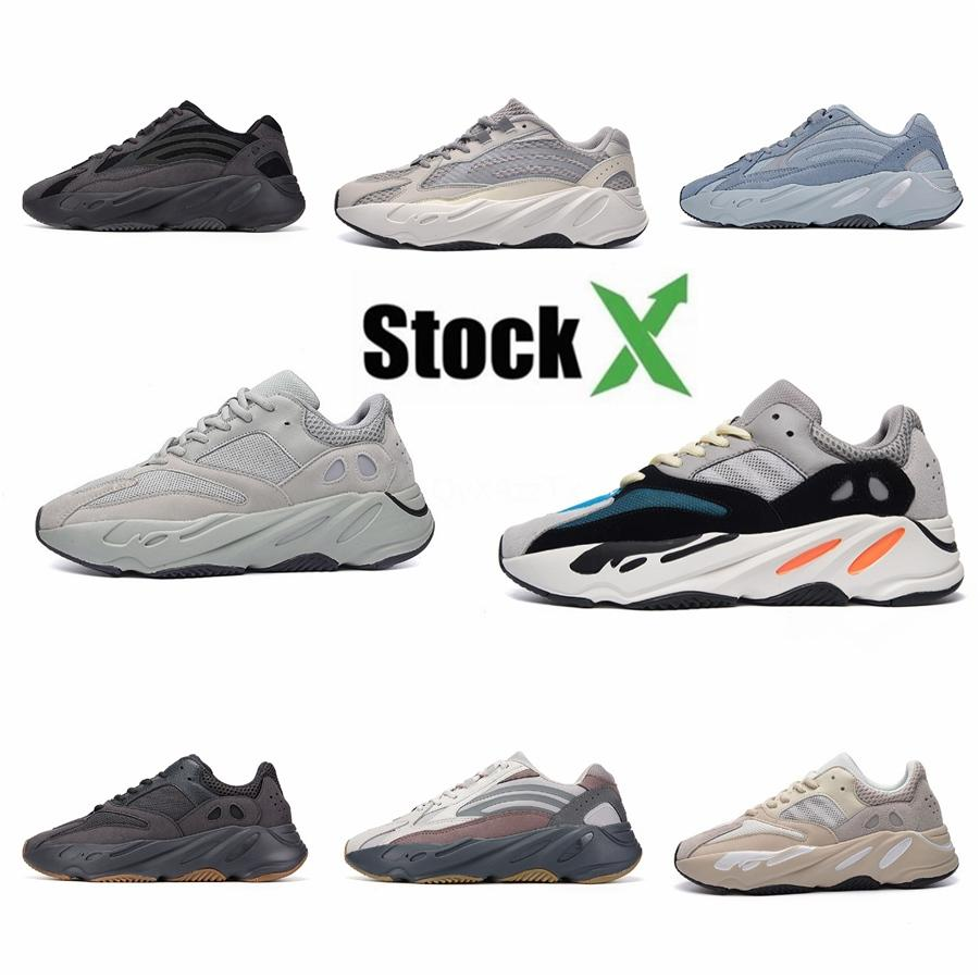 700 V2 Utility Black Kanye West Mens Женщины Бег 700 V3 обувь Geode Static Сиреневый Og Runner Wave Solid Gray Инертный # DSK213