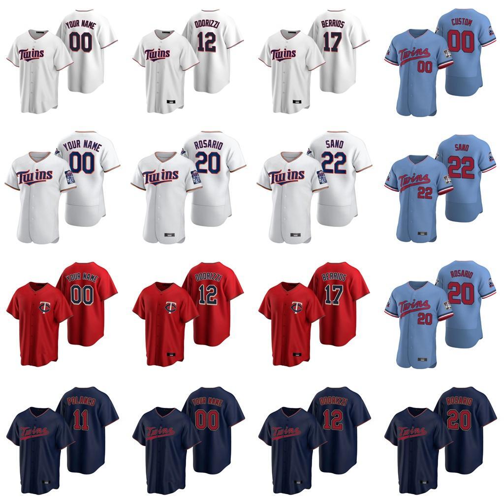 24 C. J. Cron jerseys para mujer Trevor Hildenberger 35 Michael Pineda Marwin González Joe Mauer Josh Donaldson jerseys del béisbol de encargo cosido