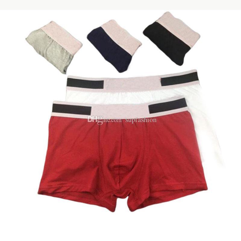 Boxers roupa íntima masculina para o homem de algodão macio lingerie sexy Casual Curto Homem respirável Masculino Gay Underwear Boxer Homme